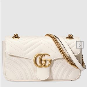 Preowned Gucci GG Mormont white bag